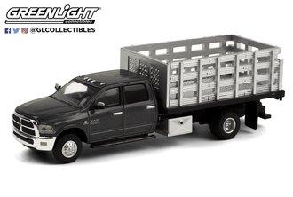 1:64 Dually Drivers Series 6 - 2018 RAM 3500 Dually Stake Truck (Granite Crystal Metallic Clearcoat)