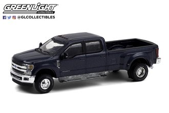 """1:64 Dually Drivers Series 6 - 2019 Ford F-350 Dually """"Blue Jeans"""""""