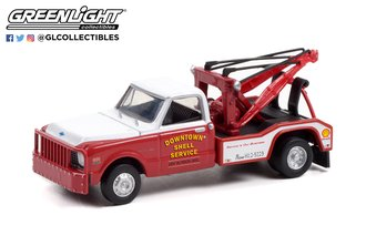 """1:64 Dually Drivers Series 8 - 1972 Chevrolet C-30 Dually Wrecker """"Downtown Shell Service"""""""