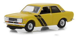 1:64 Tokyo Torque Series 4 - 1972 Datsun 510 Trans-Am Decor Package (Sahari Gold Poly/Black)