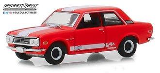 1:64 Tokyo Torque Series 5 -1970 Datsun 510 Custom - Red w/White Stripes