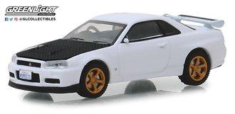 1:64 Tokyo Torque Series 5 -2001 Nissan Skyline GT-R (BNR34) V-Spec - White w/Z-Tune Hood