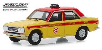 """1:64 Tokyo Torque Series 7 - 1970 Datsun 510 4-Door Sedan """"Custom Taxi"""""""