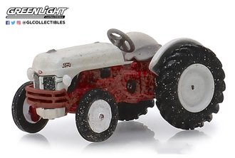 """1:64 Down on the Farm Series 2 - 1948 Ford 8N Tractor """"Weathered"""" (Red/White)"""
