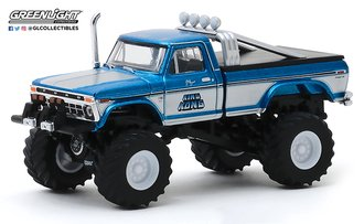 1:64 Kings of Crunch Series 6 - King Kong - 1975 Ford F-250 (Original Blue) Monster Truck