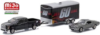 1:64 Gone In 60 Seconds Ford F-150 Pickup w/Trailer & 1967 Shelby GT-500 Eleanor Set