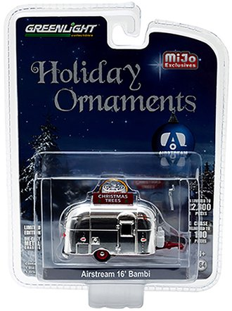 1:64 Holiday Ornament Airstream 16' Bambi Trailer (Chrome)