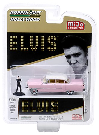 1:64 Elvis - 1955 Cadillac Fleetwood Series 60 Pink Cadillac w/Elvis Figure