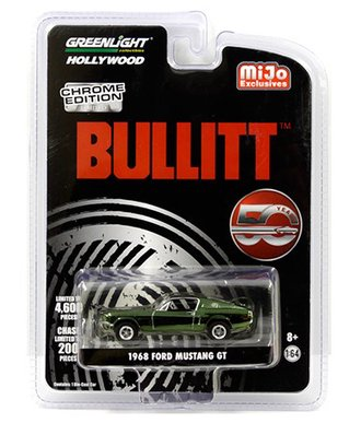 1:64 Hollywood - Bullitt 50 Year Anniversary (Chrome Edition) - 1968 Ford Mustang GT (Green Chrome)