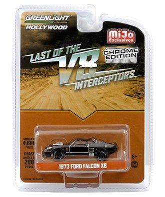 1:64 Hollywood - Last of the V8 Interceptors (Chrome Edition) - 1973 Ford Falcon XB (Black Chrome)