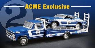 "1:64 Ford F-350 Ramp Truck w/1969 Trans Am Mustang ""#2 Dan Gurney"""