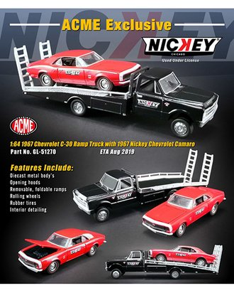 "1:64 1967 Chevrolet Ramp Truck w/1967 Chevrolet Camaro ""Nickey Performance"""