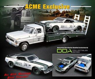 "1:64 Ford F-350 Ramp Truck w/1969 Trans Am Mustang ""Allan Moffat #33 Brut"""