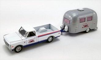 """1:64 1968 Chevrolet C-10 w/Airstream 16' Bambi Sport Camper """"SCTA"""""""