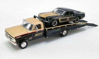 """1:64 1970 Ford F-350 Ramp Truck w/1969 Trans Am Mustang """"#11 Smokey Yunick"""""""