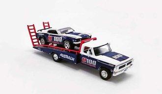 """1:64 1970 Ford F-350 Ramp Truck w/1969 Trans Am Mustang U100 """"Allan Moffat"""""""
