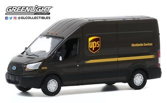 "1:64 2019 Ford Transit LWB High Roof ""United Parcel Service (UPS) Worldwide Services"""