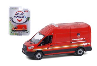 "1:64 2019 Ford Transit LWB High Roof ""FDNY - EMS Division 3"""