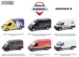 1:64 Route Runners Series 2 (Set of 6)