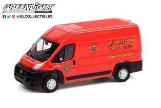 """1:64 2018 RAM ProMaster 2500 Cargo High Roof """"Anaheim, CA Fire & Rescue Services Division"""""""