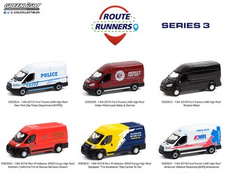 1:64 Route Runners Series 3 (Set of 6)