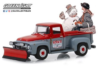 1:64 Norman Rockwell Series 2 - 1956 Ford F-100 with Snow Plow