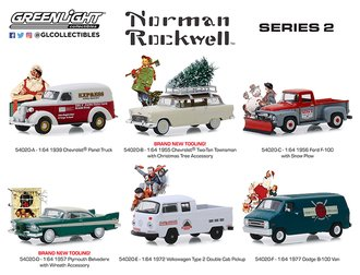 1:64 Norman Rockwell Delivery Vehicles Series 2 (Set of 6)