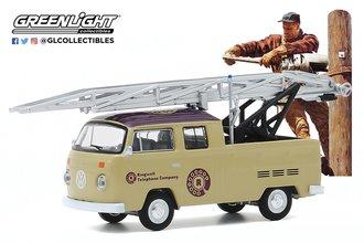 1:64 Norman Rockwell Series 3 - 1972 Volkswagen Type 2 Double Cab Pickup Ladder Truck