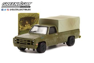 """1:64 Norman Rockwell Series 4 - 1984 Chevrolet M1008 Military Pickup """"U.S.A. W-26114"""" w/Cargo Cover"""