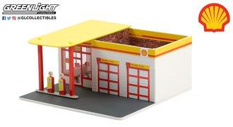 "1:64 Mechanic's Corner Series 7 - Vintage Gas Station ""Shell Oil #2"""
