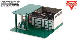 1:64 Mechanic's Corner Series 8 - Vintage Gas Station - Conoco Continental Oil Company