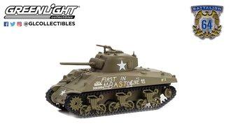 1:64 Battalion 64 Series 1 - 1941 M4 Sherman Tank - U.S. Army World War II