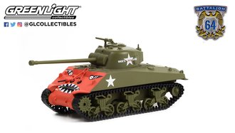 1:64 Battalion 64 Series 1 - 1952 M4 Sherman Tank - U.S. Army Korean War