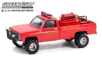 1:64 Fire & Rescue Series 1 - 1986 Chevy C20 Custom Deluxe Fire Dept. First Attack Unit w/Equipment