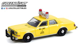 "1:64 1982 Plymouth Gran Fury ""Detroit, Michigan Fire Department Battalion Chief #1"""