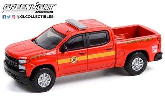 "1:64 2020 Chevrolet Silverado Z71 ""Philadelphia Fire Department"" w/Battalion Truck Cap"