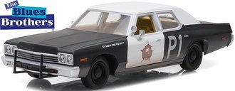 "1:24 Hollywood Series 1 - Blues Brothers (1980) - 1974 Dodge Monaco ""Bluesmobile"""