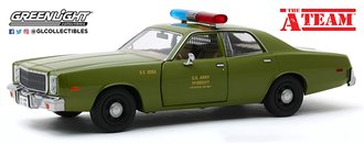 "1:24 Hollywood Series 10 - ""The A-Team (1983-87 TV Series)"" 1977 Plymouth Fury U.S. Army Police"