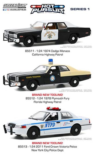 1:24 Hot Pursuit Series 1 (Set of 3)