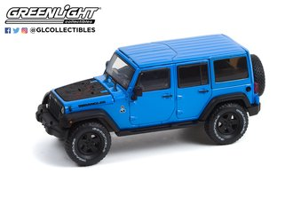 1:43 2016 Jeep Wrangler Unlimited Black Bear Edition - Black Bear Pass, Telluride - Hydro Blue Pearl