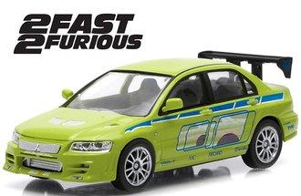 1:43 Fast & Furious - 2 Fast 2 Furious (2003) - 2002 Mitsubishi Lancer Evolution VII (Lime Green)