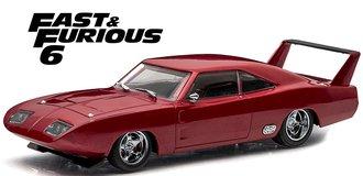 1:43 Fast & Furious 6 (2013) - 1969 Dodge Charger Daytona (Maroon)