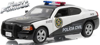"1:43 2011 Dodge Charger Rio Police ""Policia Civil"" (Fast Five (2011)"