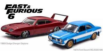 1:43 Fast & Furious 6 (2013) - 1969 Dodge Charger Daytona & 1974 Ford Escort RS 2000 MkI