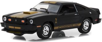 1:43 1977 Ford Mustang Cobra II (Black w/Gold Stripes)