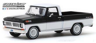 1:43 1970 Ford F-100 Pickup Truck (Raven Black/Pure White)