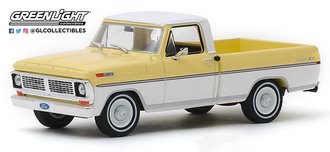 1:43 1970 Ford F-100 Pickup Truck (Pinto Yellow/Pure White)