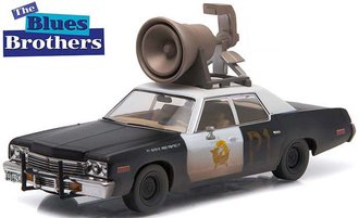 "1:43 Hollywood - Blues Brothers (1980) - 1974 Dodge Monaco ""Bluesmobile"" w/Megaphone"