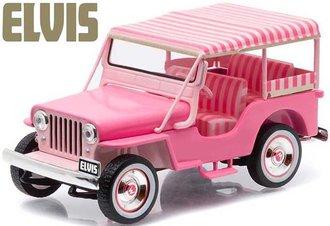 1:43 Elvis Presley - 1960 Jeep Surrey CJ3B (Pink)