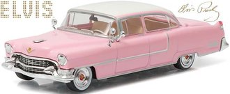 1:43 Elvis Presley - 1955 Cadillac Fleetwood Series 60 (Pink w/White Roof)